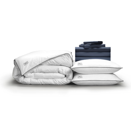 Luxe Soft + Smooth Perfect Bedding Bundle // Dark Navy (Full)