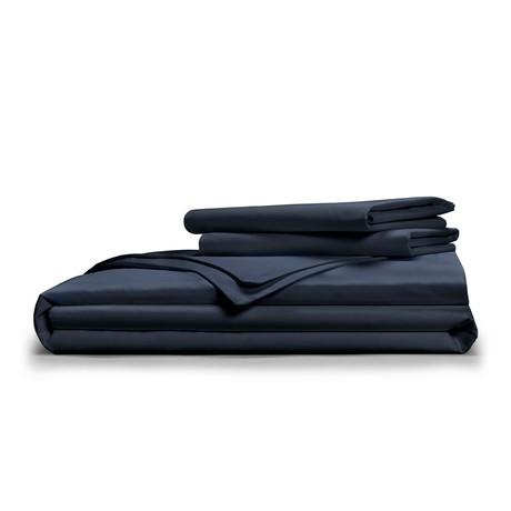 Luxe Soft & Smooth TENCEL™ // Duvet Cover Set // Dark Navy (Full/Queen)