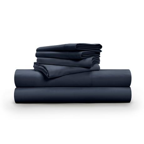 Luxe Soft & Smooth TENCEL™// 6-Piece Sheet Set // Dark Navy (Full)