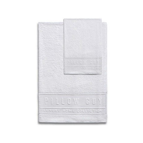 Ultimate Pillow Guy Towel Bundle // 1 Hand + 1 Bath (White)