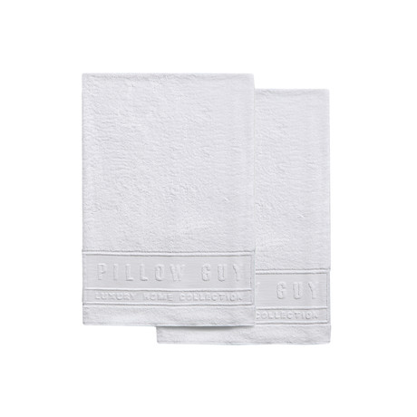 Ultimate Pillow Guy Hand Towels // Set of 2 (White)