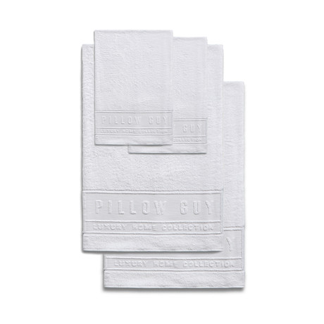 Ultimate Pillow Guy Towel Bundle // 2 Hand + 2 Bath (White)