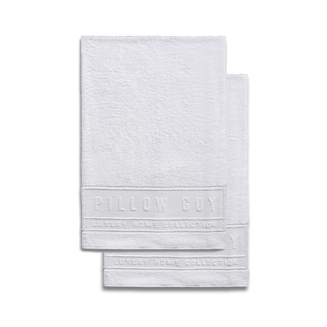Ultimate Pillow Guy Oversized Bath Towels // Set of 2 (White)