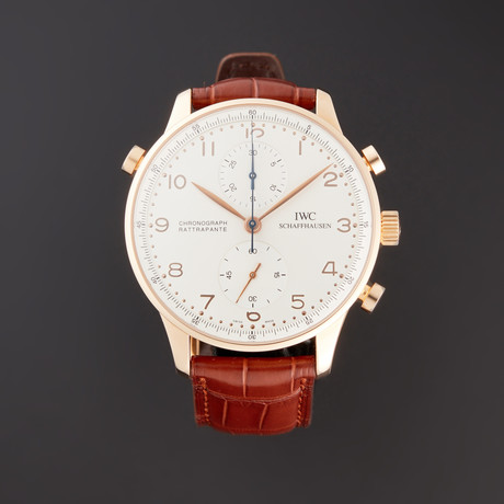 IWC Portuguese Rattrapante Chronograph Manual Wind // IW3712-03 // Pre-Owned