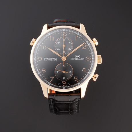 IWC Portuguese Rattrapante Chronograph Manual Wind // IW3712-10 // Pre-Owned
