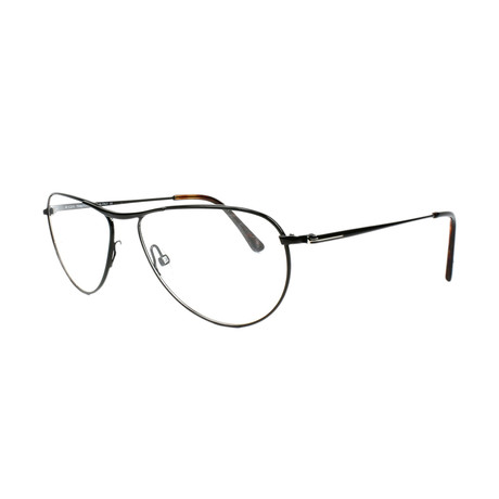 Tom Ford // Men's Mental Modified Metal Optical Frames // Shiny Black