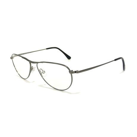 Men's Metal Modified Metal Optical Frames // Shiny Dark Ruthenium