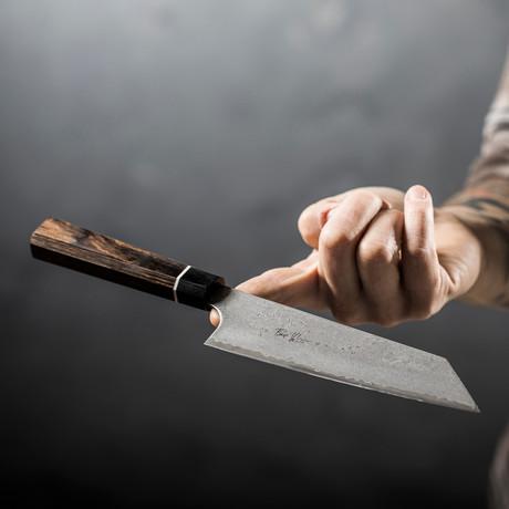 "Bunka Knife // Black Damascus // 6.5"""