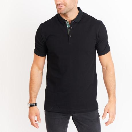 Louis Short Sleeve Polo Shirt // Deep Black (Small)