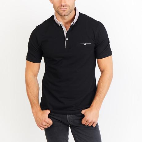 Jules Short Sleeve Polo Shirt // Navy (Small)