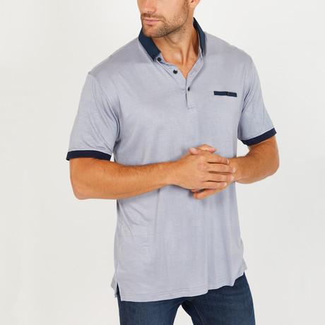 Leo Short Sleeve Polo Shirt // Slate Gray (Small)