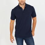 Jace Short Sleeve Polo Shirt // Navy Blue (Small)