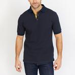 Antoine Short Sleeve Polo Shirt // Blue (Small)
