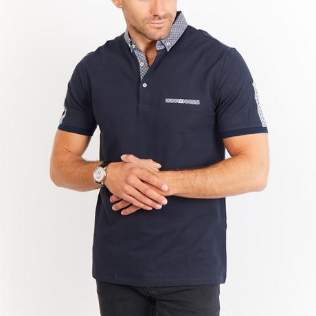 Ezra Short Sleeve Polo Shirt // Royal Blue (Small)