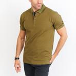 Arthur Short Sleeve Polo Shirt // Army Green (Small)