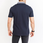 Ezra Short Sleeve Polo Shirt // Royal Blue (Small)