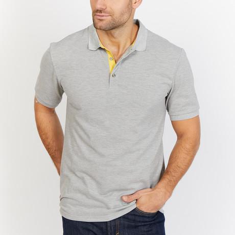Gaspard Short Sleeve Polo Shirt // Gray (Small)