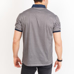Roman Short Sleeve Polo Shirt // Gray + Black (Small)
