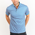 Victor Short Sleeve Polo Shirt // Gray + Blue (Small)