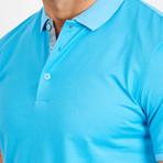 Adam Short Sleeve Polo Shirt // Turquoise Blue (Small)