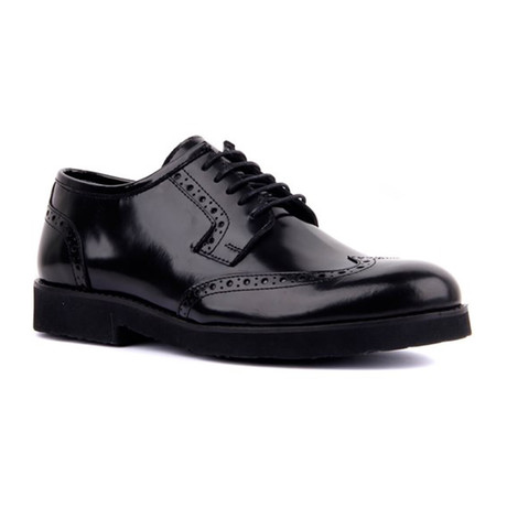 Dominic Cap Toe // Black (Euro: 39)