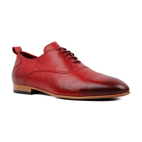 Adrian Hosting Scotch Cap Toe Dress Shoe // Burgundy (Euro: 39)