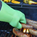 BBQ Gloves // Green Glow in the Dark