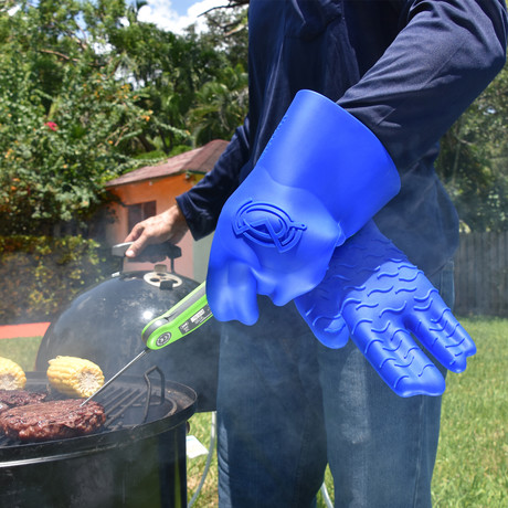 BBQ Gloves // Blue