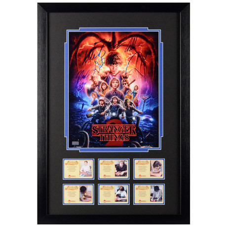 Stranger Things Cast // Framed + Autographed Season 2 Display