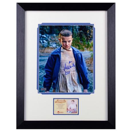 Millie Bobby Brown Autographed Stranger Things Eleven Framed
