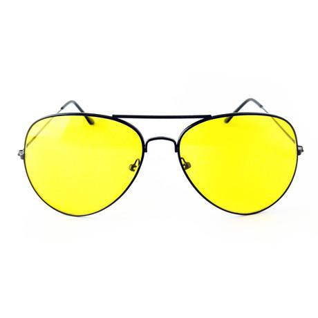 Unisex Miramar Sunglasses // Black + Yellow