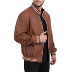 Leather Jacket // Whisky+Beige (XL)