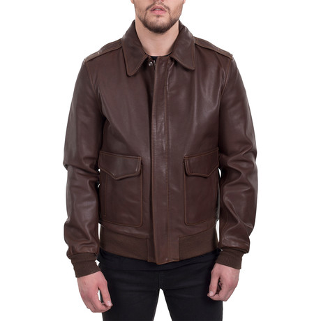 Leather Jacket II // Brown (XS)