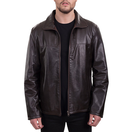 Efes Leather Jacket // Brown (XS)