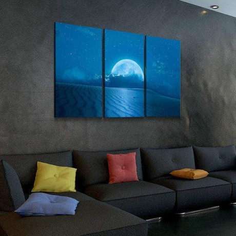 Moonscape Canvas Set (Medium // 1 Panel)