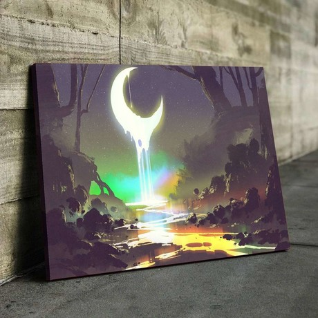 Moon River Canvas Set (Small // 1 Panel)