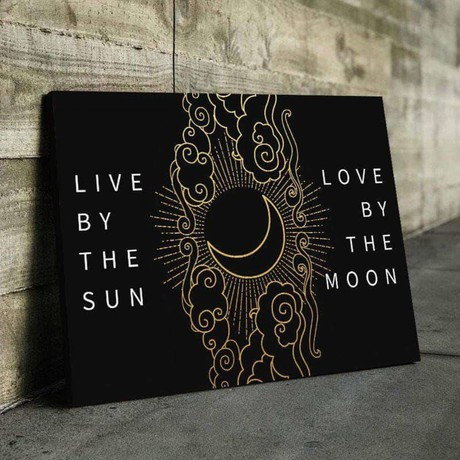Live By The Sun Love By The Moon Canvas Set (Medium // 1 Panel)