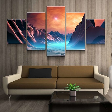 Crimson Planet Canvas Set (Medium // 1 Panel)