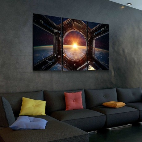 Sunrise View From The ISS Canvas Set (Medium // 1 Panel)
