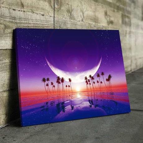 Plastic Beach Canvas Set (Medium // 1 Panel)
