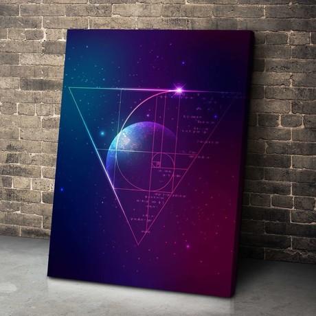 Golden Ratio Galaxy Canvas Set (Medium // 1 Panel)