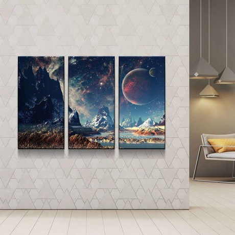 Mountains and Space Canvas Set (Medium // 1 Panel)