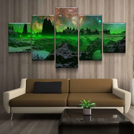Green Space Canvas Set (Medium // 1 Panel)