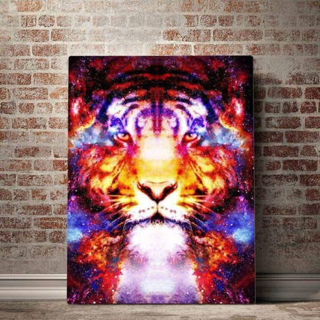 Tiger Constellation Canvas Set (Small // 1 Panel)