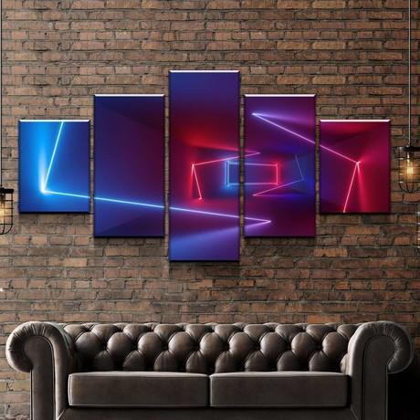 Neon Hallway Canvas Set (Medium // 1 Panel)