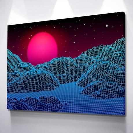Digital Dunes Canvas Set (Small // 1 Panel)