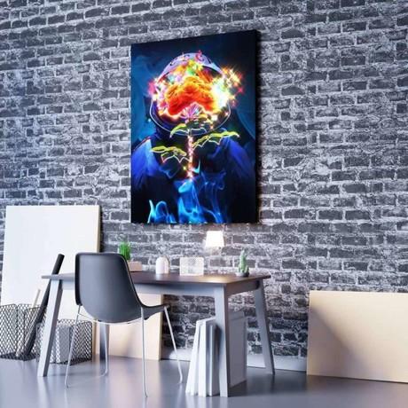 Astro Bouquet Canvas Set (Medium // 1 Panel)