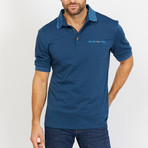 Oscar Short Sleeve Polo Shirt // Blue (Large)