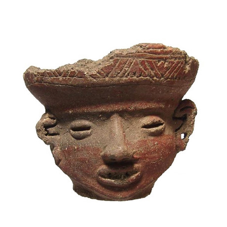 Ceramic Head Rattle // Ancient Mexico, 1000 - 1500 AD