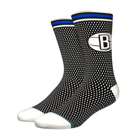 Nets Jersey Socks // Black (M)